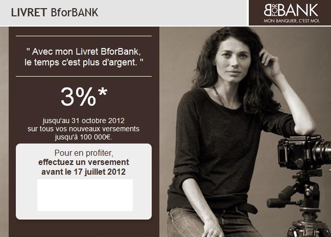 L'offensive de la banque en ligne Bforbank !