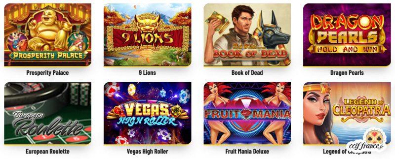 les jeux disponibles sur ma chance casino