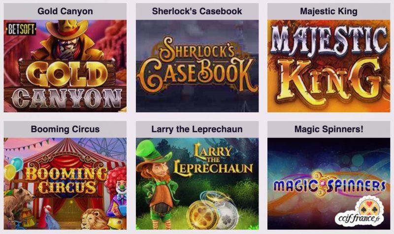 jeux disponibles sur magik casino