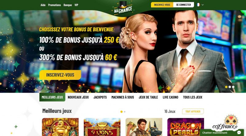 ma chance casino interface