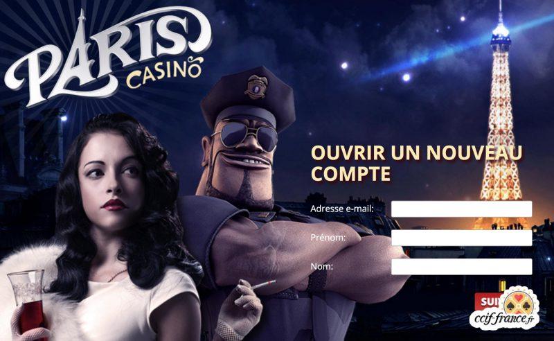 processus d'inscription sur paris casino