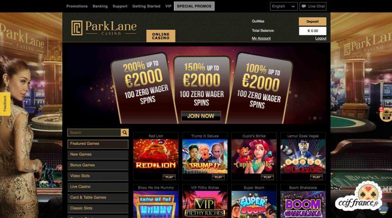 parklane casino avis