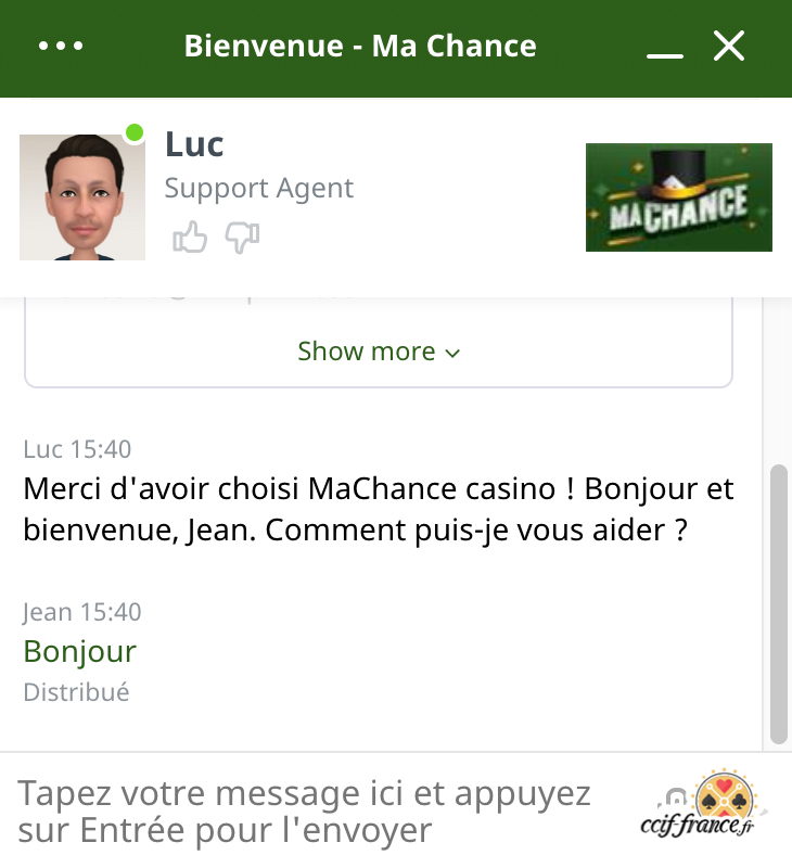 chat client ma chance casino