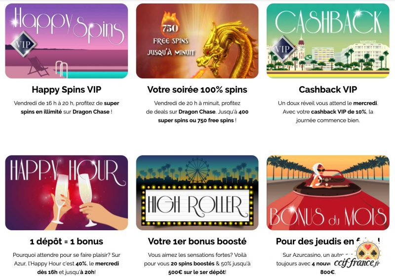 azur casino promotions