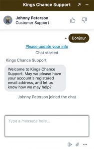 Chat Live Kings Chance Casino