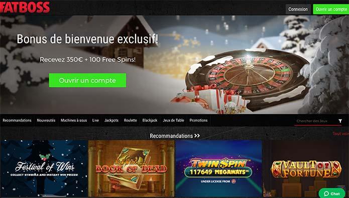 Accueil Fatboss Casino