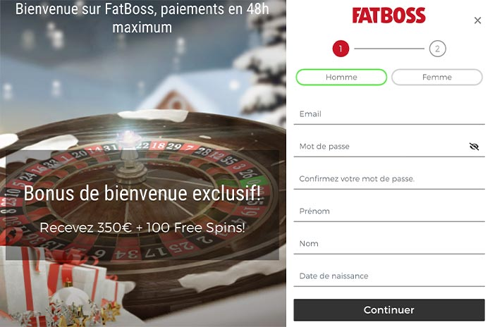 Inscription Fatboss Casino