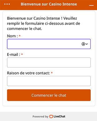 Service Client Casino Intense