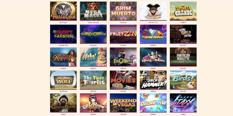 screenshot arlequin casino games