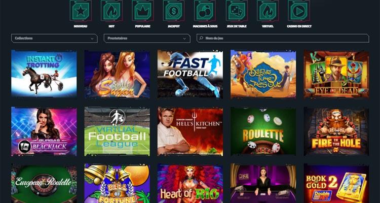 screenshot casinozer jeux