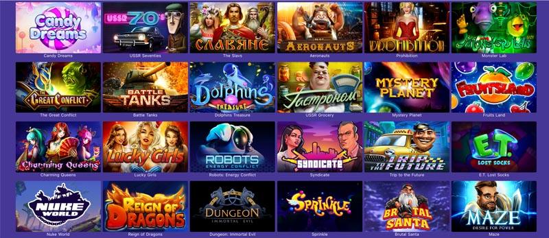 screenshot casino purple games